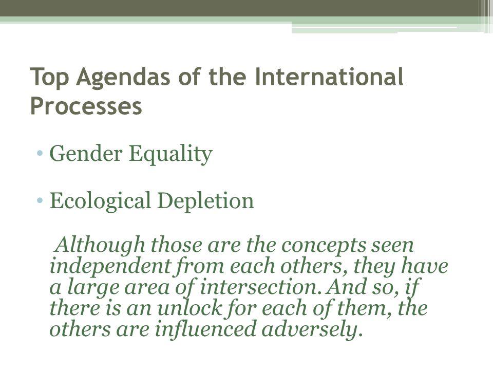 Top Agendas of the International Processes