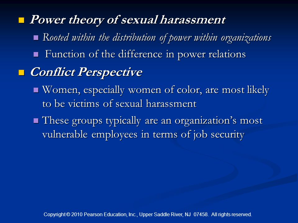 Power theory of sexual harassment