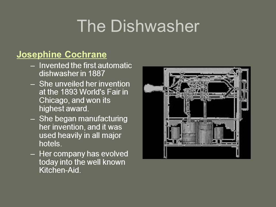 The Dishwasher Josephine Cochrane