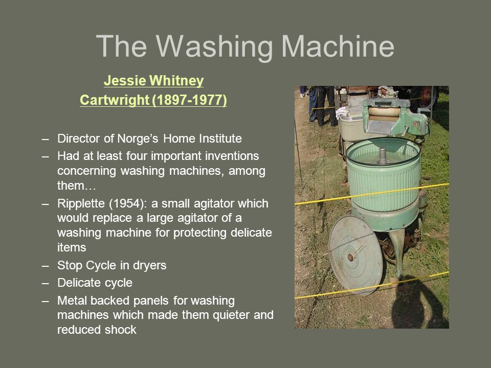 The Washing Machine Jessie Whitney Cartwright (1897-1977)