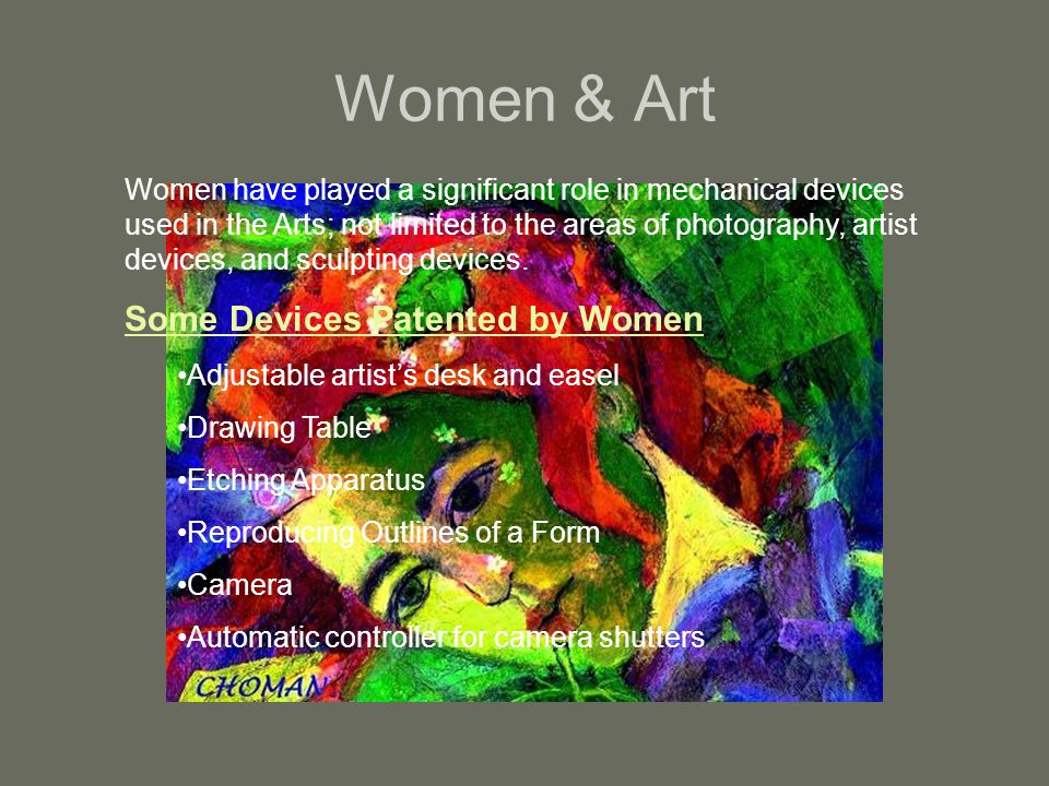 Women & Art Some Devices Patented by Women