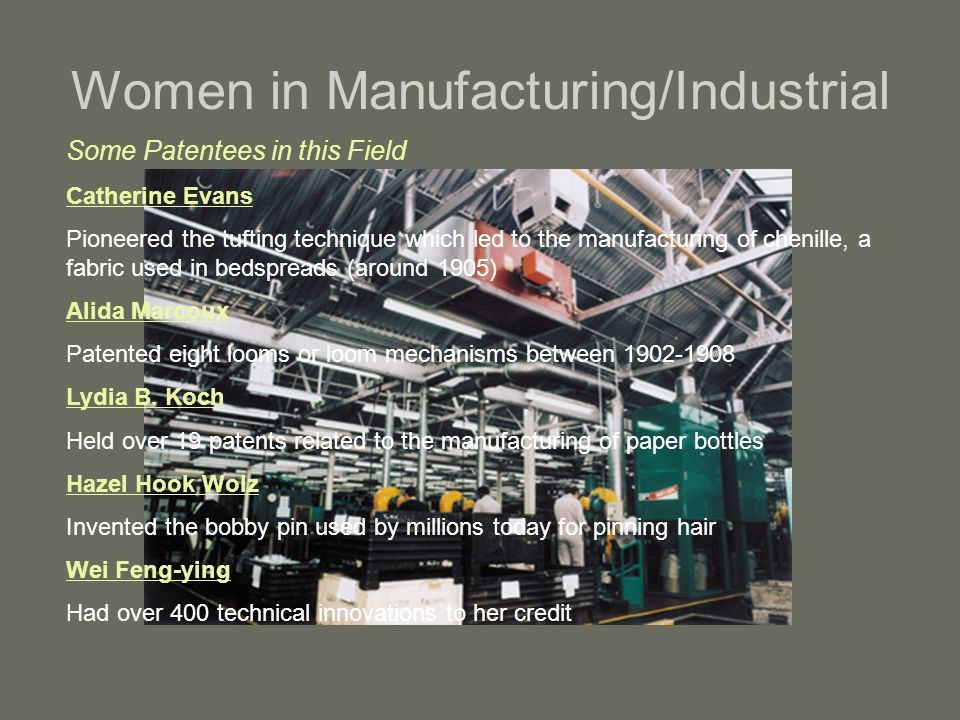 Women in Manufacturing/Industrial