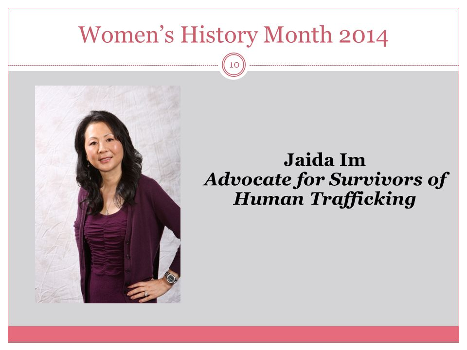 Jaida Im Advocate for Survivors of Human Trafficking