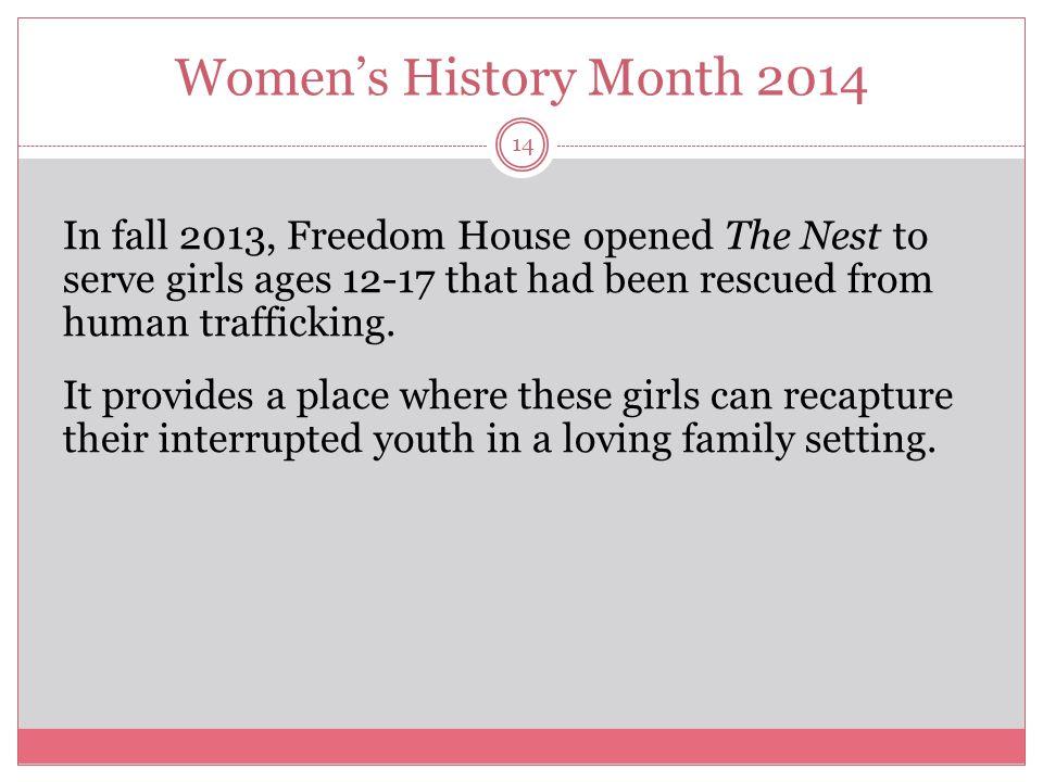 Women's History Month 2014