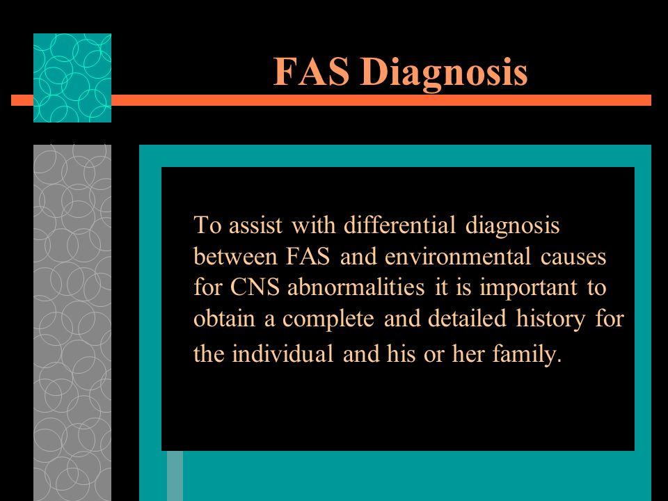 FAS Diagnosis