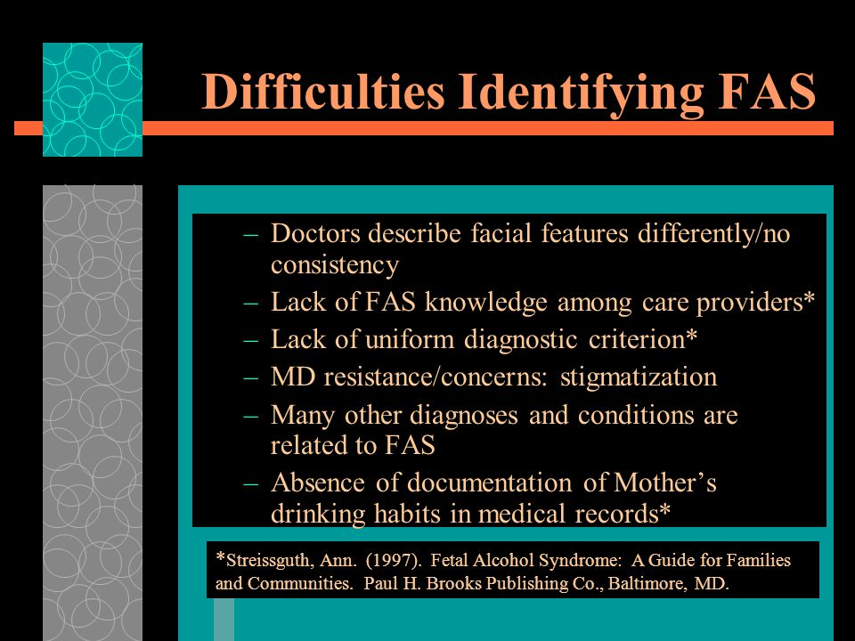 Difficulties Identifying FAS