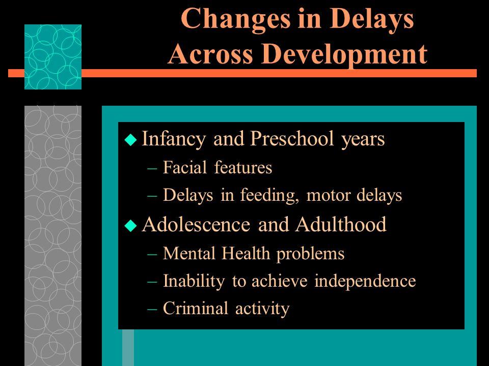 Changes in Delays Across Development