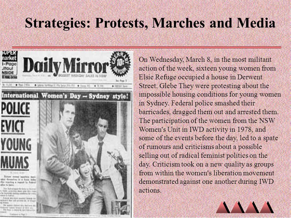 Strategies: Protests, Marches and Media