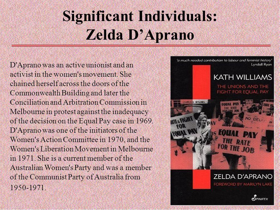 Significant Individuals: Zelda D'Aprano