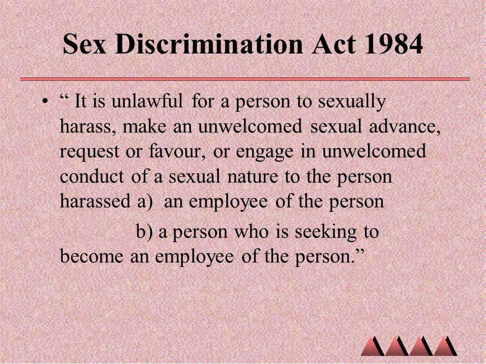 Sex Discrimination Act 1984