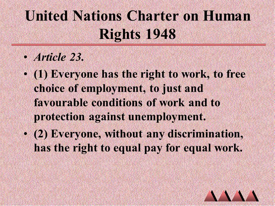 United Nations Charter on Human Rights 1948