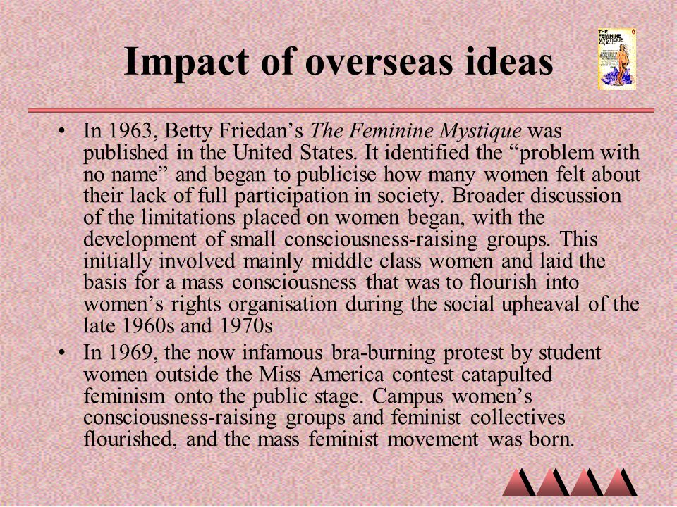 Impact of overseas ideas