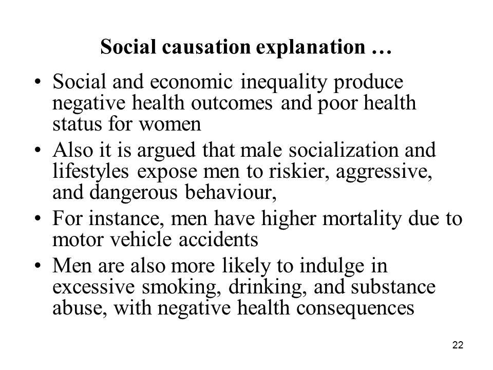 Social causation explanation …