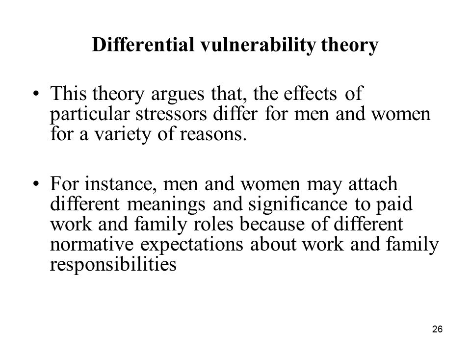 Differential vulnerability theory