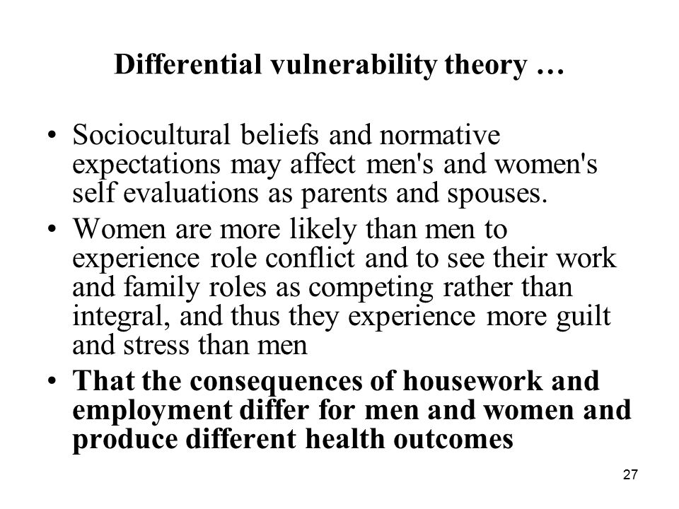 Differential vulnerability theory …