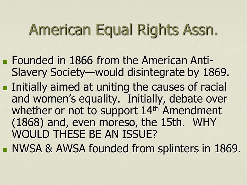 American Equal Rights Assn.