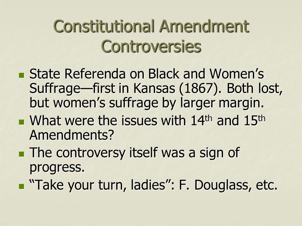Constitutional Amendment Controversies