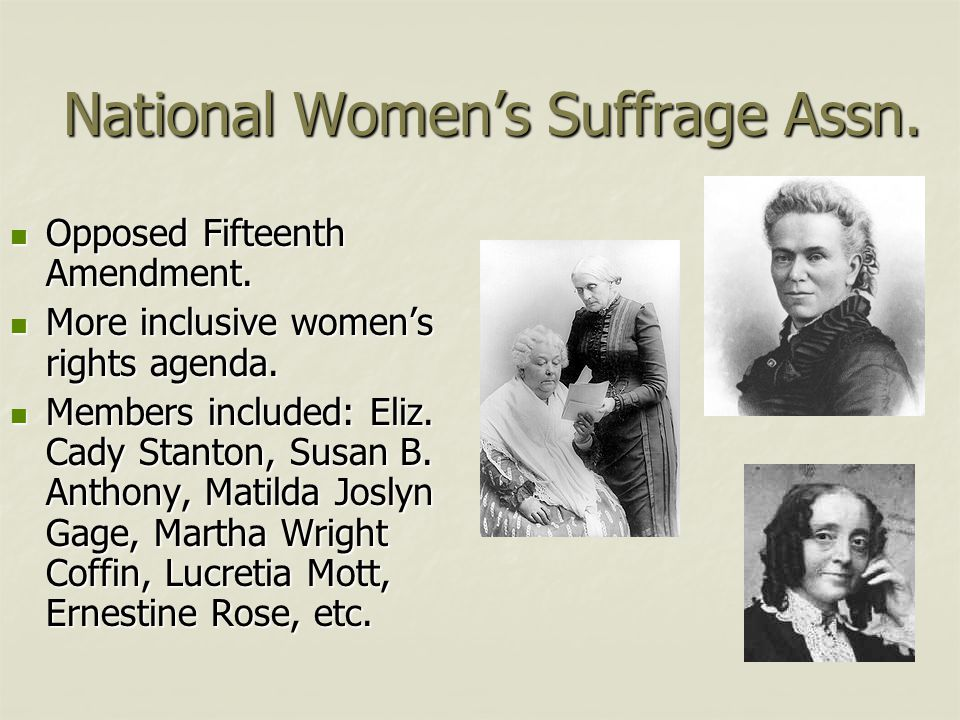 National Women's Suffrage Assn.