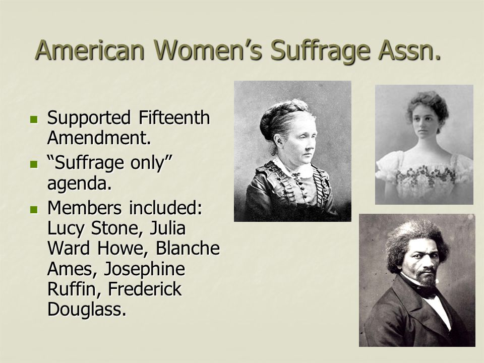 American Women's Suffrage Assn.