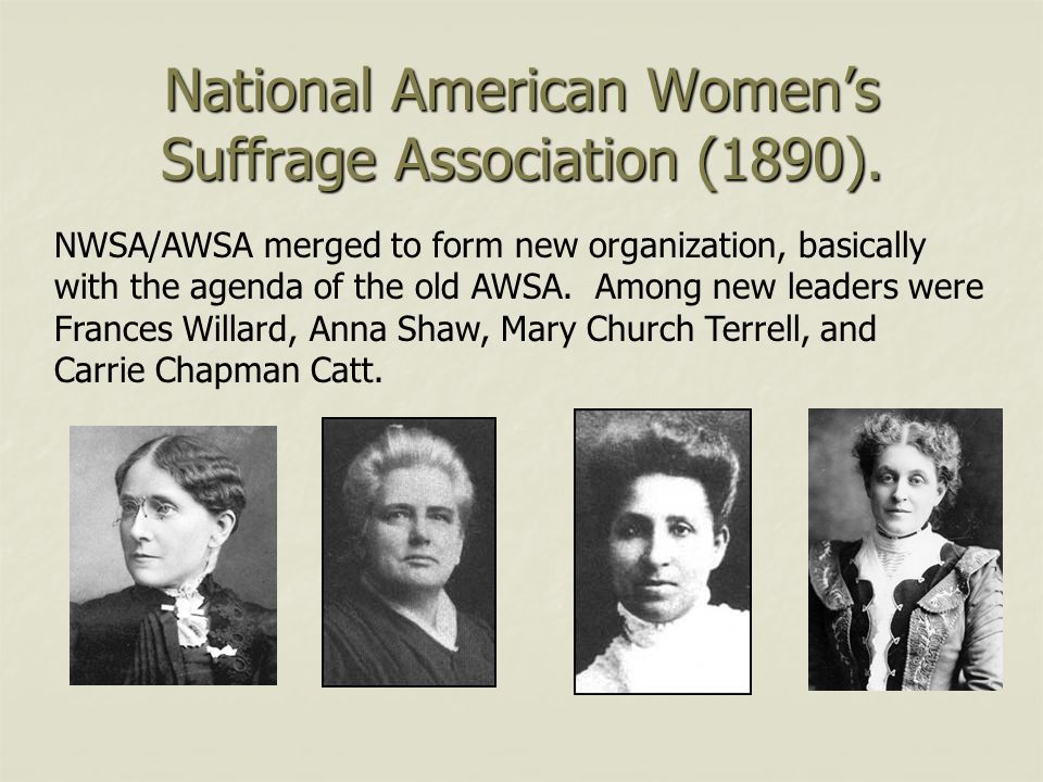 National American Women's Suffrage Association (1890).