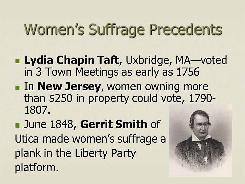 Women's Suffrage Precedents