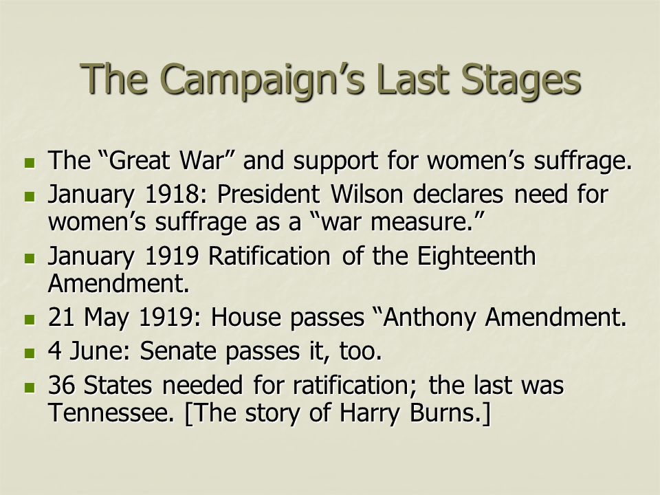 The Campaign's Last Stages