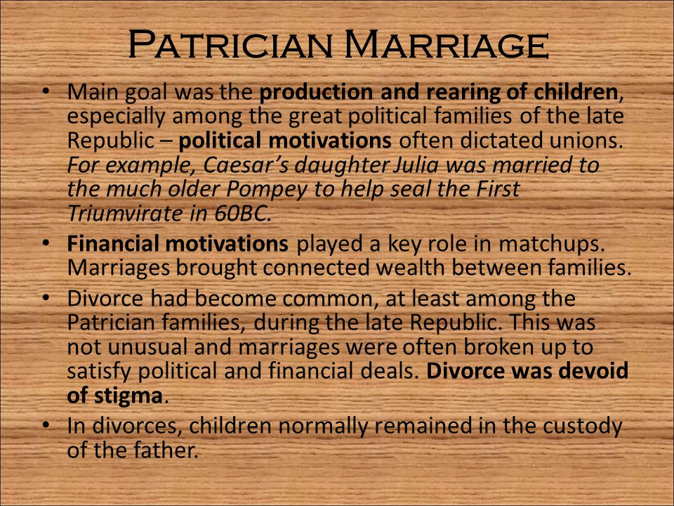 Patrician Marriage