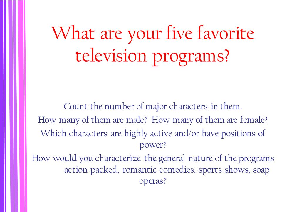 What are your five favorite television programs