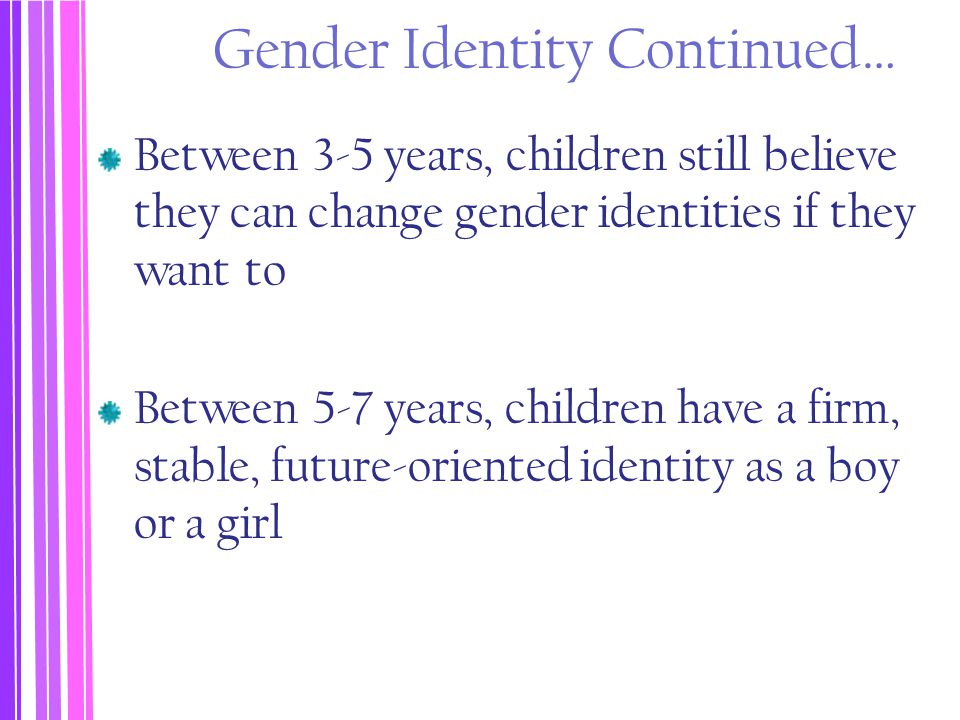 Gender Identity Continued…