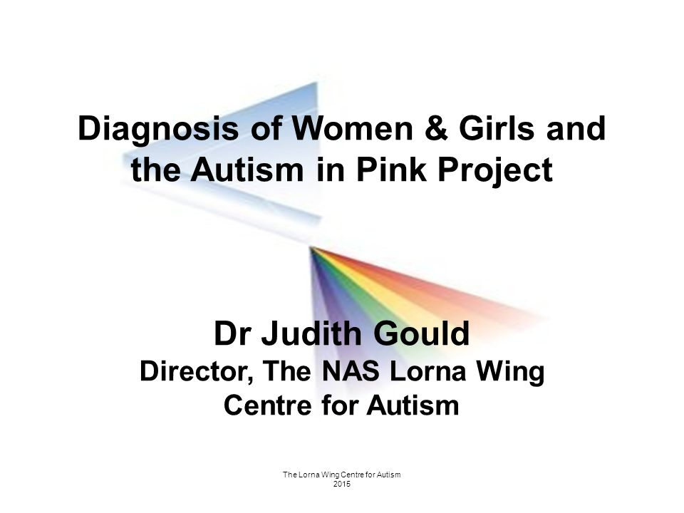 The Lorna Wing Centre for Autism 2015