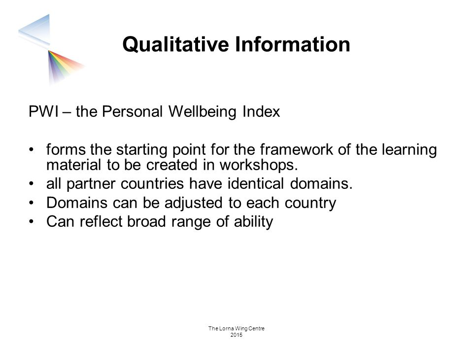 Qualitative Information
