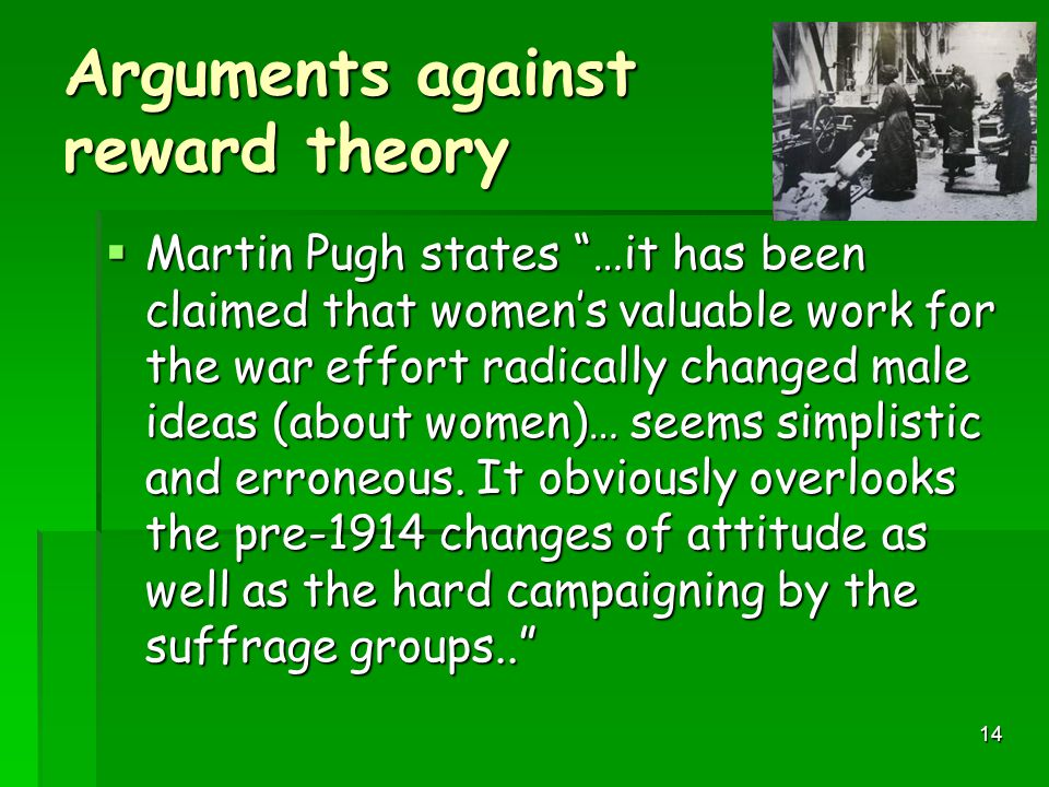 Arguments against reward theory