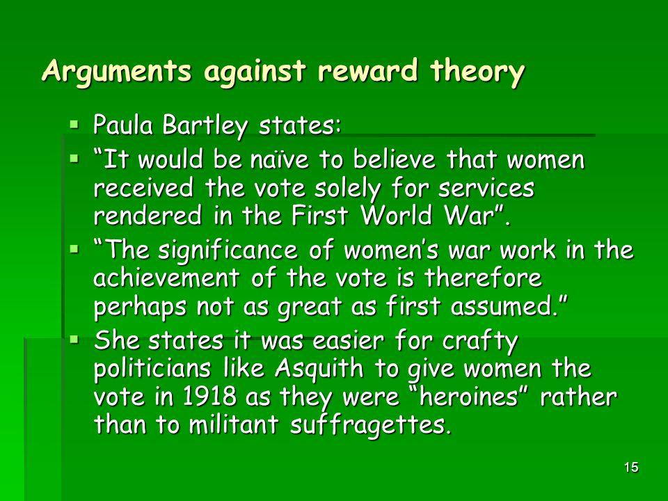 Arguments against reward theory
