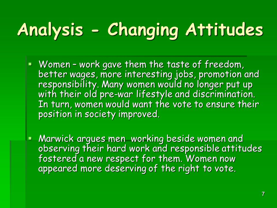 Analysis - Changing Attitudes