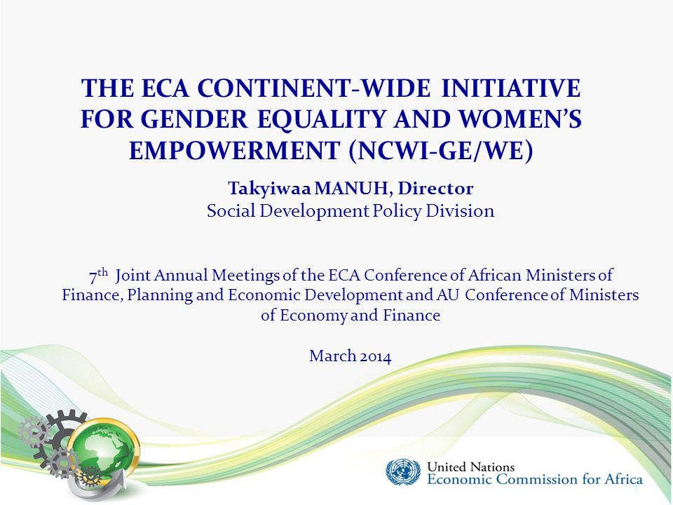 FOR GENDER EQUALITY AND WOMEN'S EMPOWERMENT (NCWI-GE/WE)