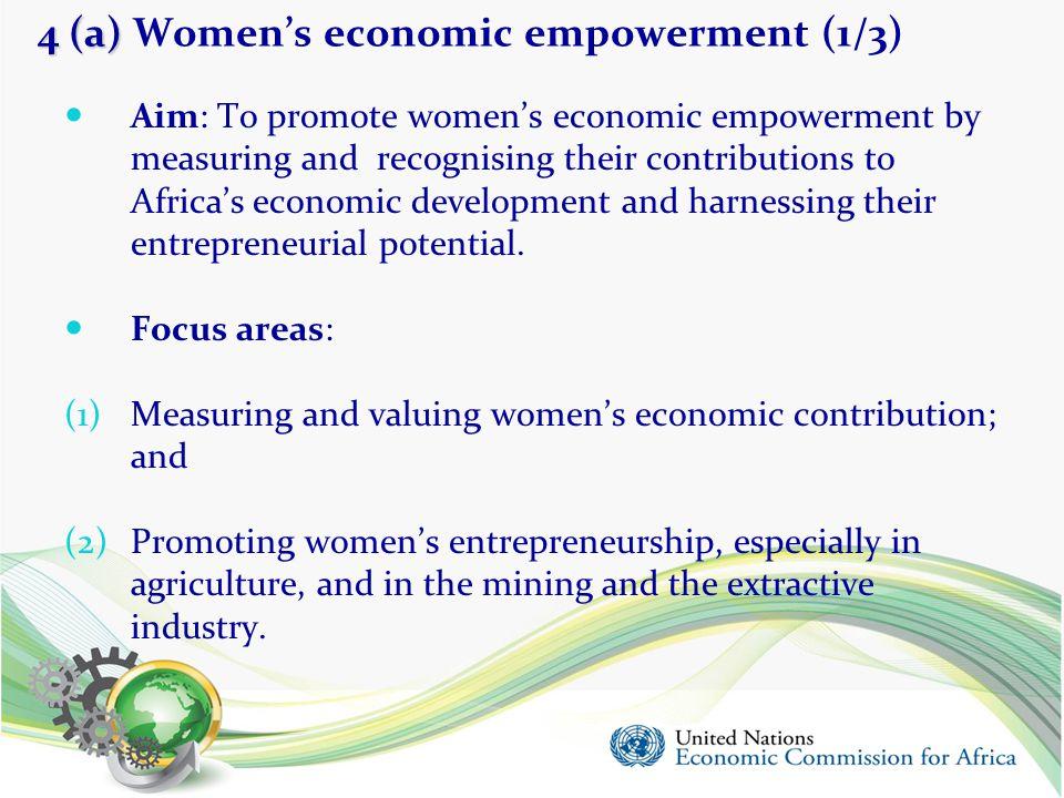 4 (a) Women's economic empowerment (1/3)