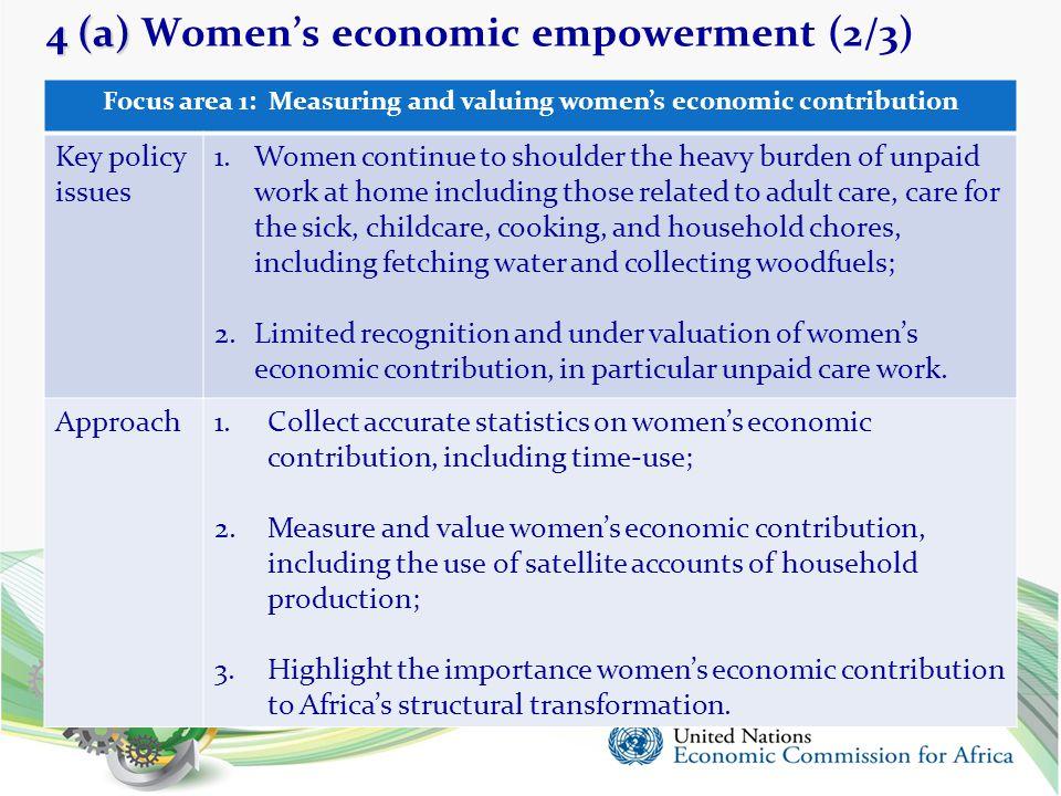 4 (a) Women's economic empowerment (2/3)