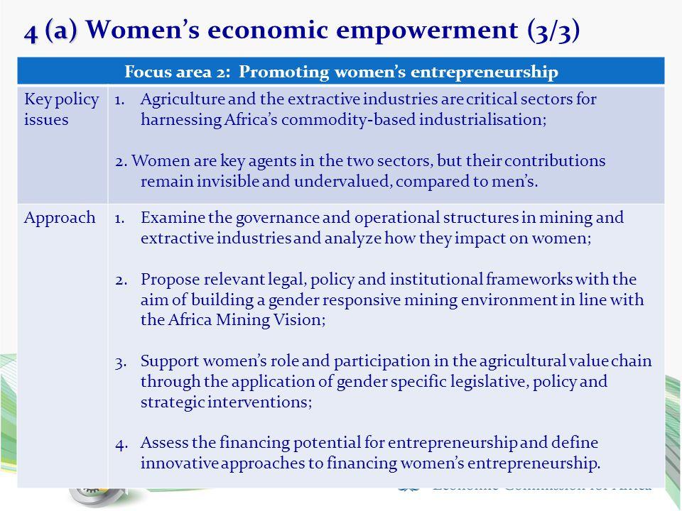 4 (a) Women's economic empowerment (3/3)