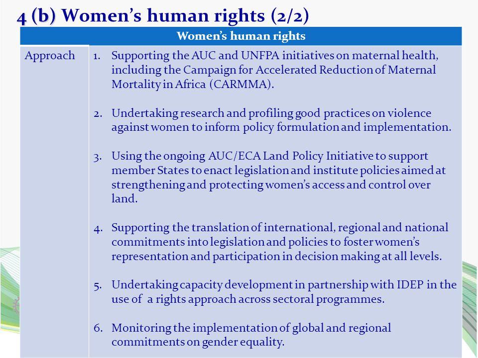 4 (b) Women's human rights (2/2)