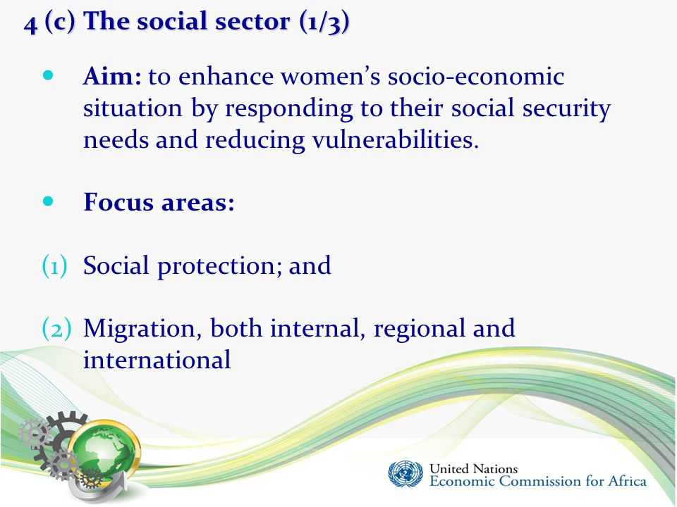 4 (c) The social sector (1/3)