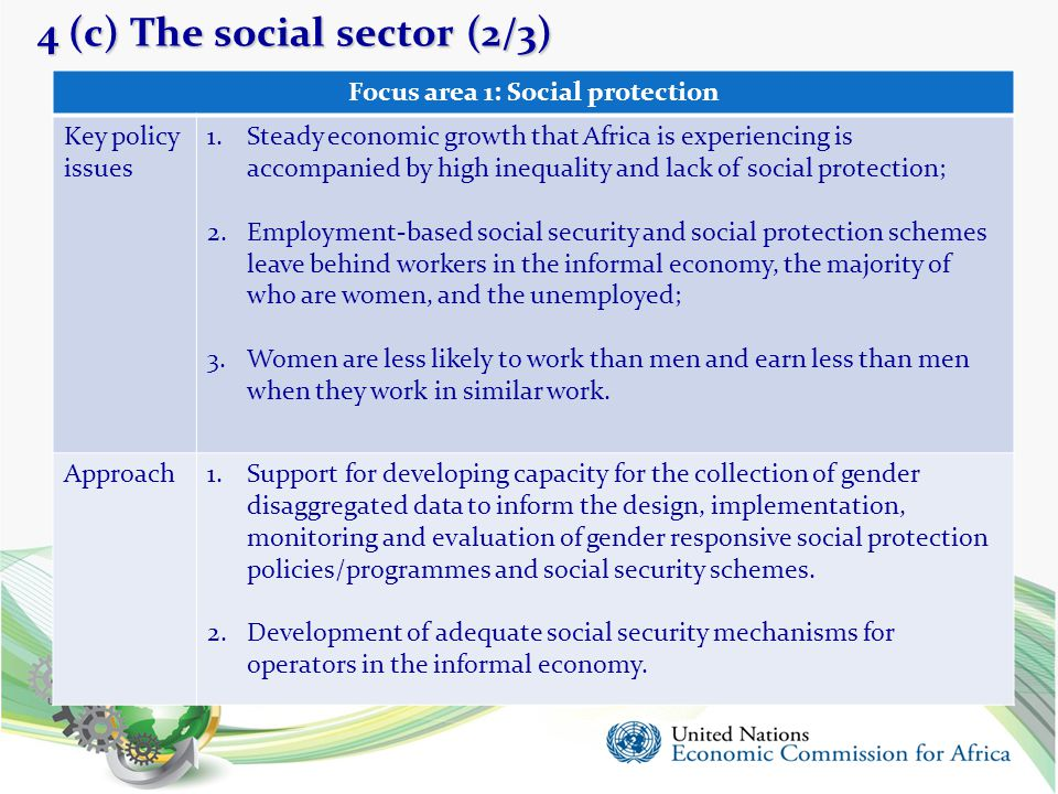 4 (c) The social sector (2/3)