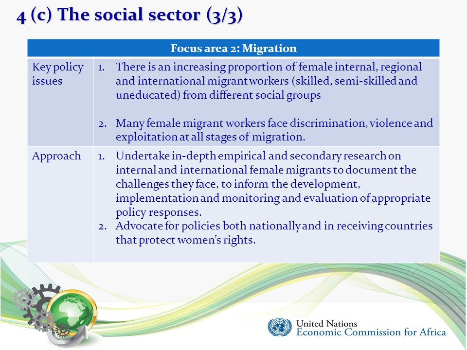 4 (c) The social sector (3/3)