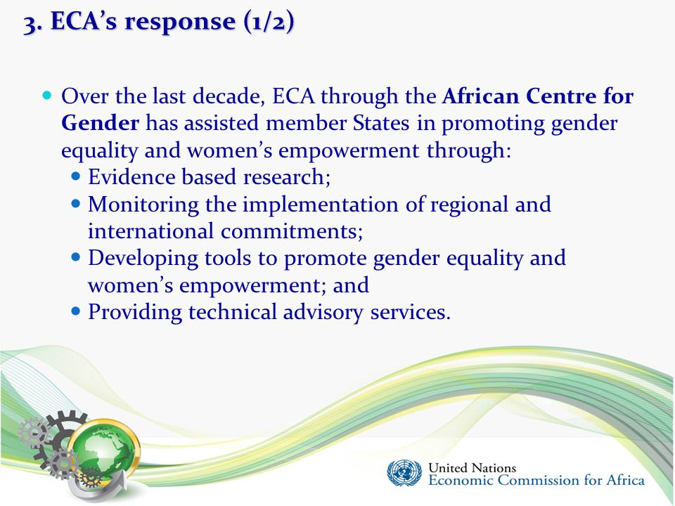3. ECA's response (1/2)