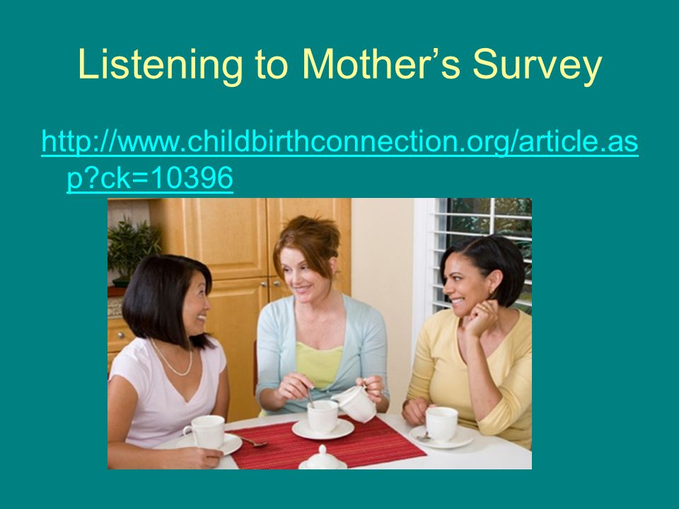 Listening to Mother's Survey