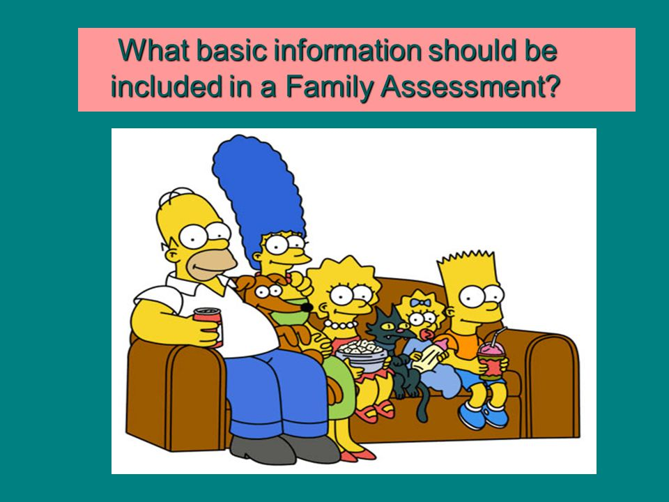 What basic information should be included in a Family Assessment