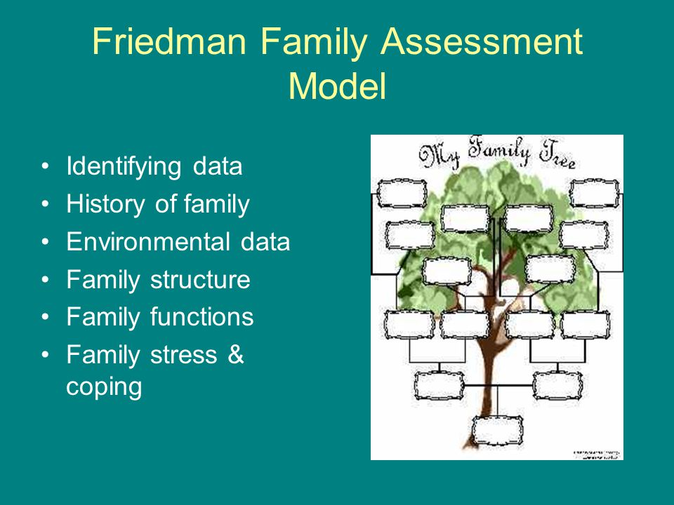 friedman family assessment model This popular book addresses the full practice of family nursing—identifying the family as a whole—and spend $25, get free shipping mother's day gifts paperbacks: the friedman family assessment model (long form) b the friedman family assessment model (short form.