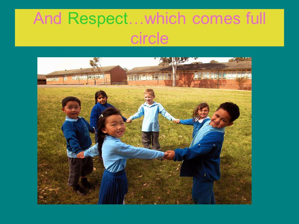 And Respect…which comes full circle