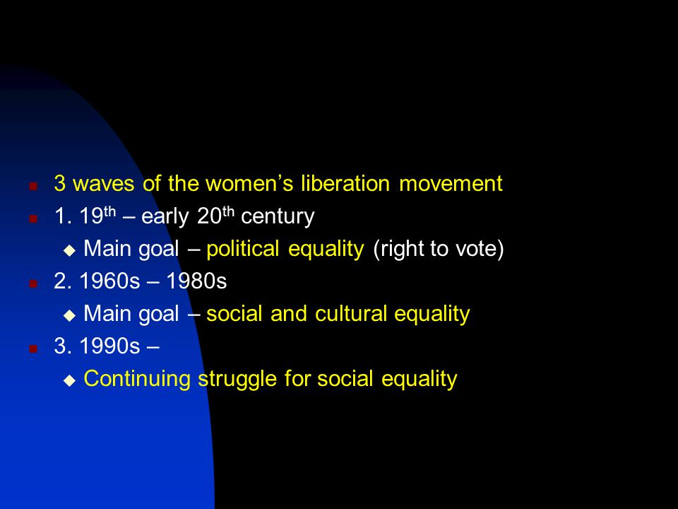 3 waves of the women's liberation movement