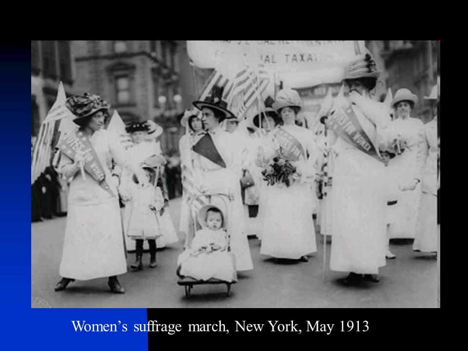 Women's suffrage march, New York, May 1913
