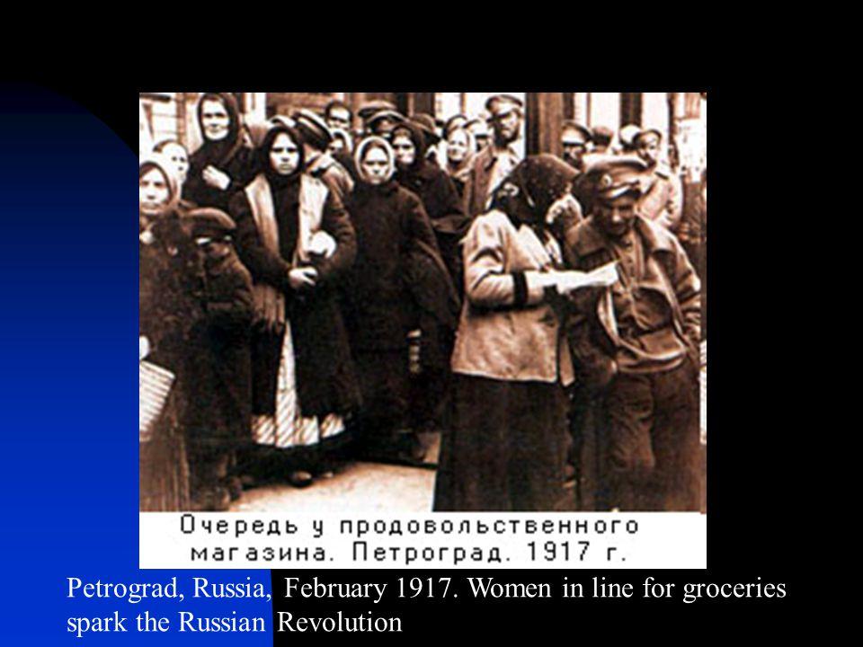 Petrograd, Russia, February 1917